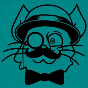 face head sir mr mustache monocle glasses cylinder T-Shirts - Men's T-Shirt