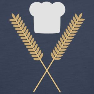 Bakers Cap with wheat Tops - Women's Premium Tank Top