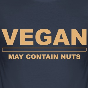 May Contain Nuts T-Shirts - Men's Slim Fit T-Shirt