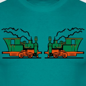 Steam Locomotives railroad small T-Shirts - Men's T-Shirt