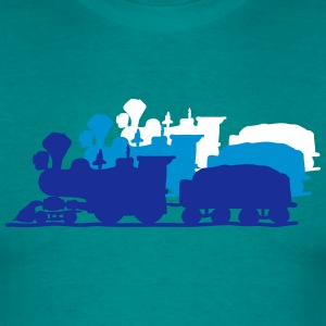 dampflok lok railroad western art T-Shirts - Men's T-Shirt