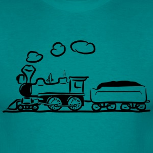 dampflok lok railroad western comic T-Shirts - Men's T-Shirt