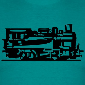 dampflok lok railroad small T-Shirts - Men's T-Shirt