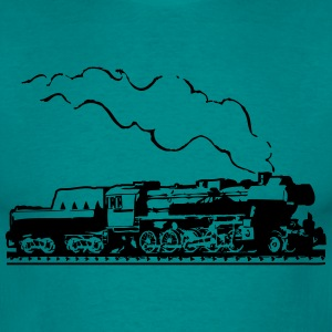 dampflok railroad train locomotive tender romance T-Shirts - Men's T-Shirt