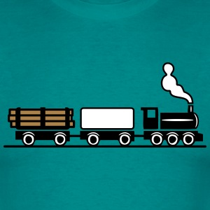 dampflok railroad toy freight train T-Shirts - Men's T-Shirt