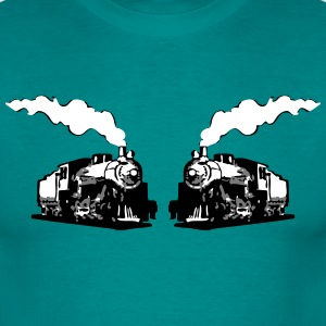 dampflok railroad locomotives romance T-Shirts - Men's T-Shirt