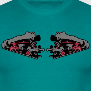 dampflok railroad locomotives old T-Shirts - Men's T-Shirt
