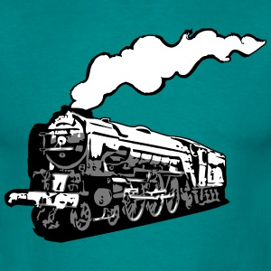 dampflok railroad locomotive tender romance T-Shirts - Men's T-Shirt