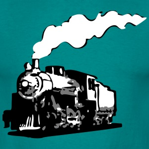 dampflok railroad locomotive romance T-Shirts - Men's T-Shirt