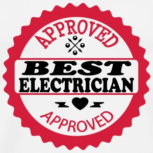 Approved best electrician T-shirts - Mannen Premium T-shirt