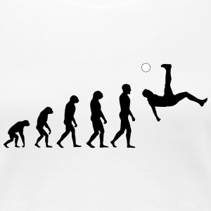 Evolution Football #1 - Overhead kick - Women's t- - Women's Premium T-Shirt