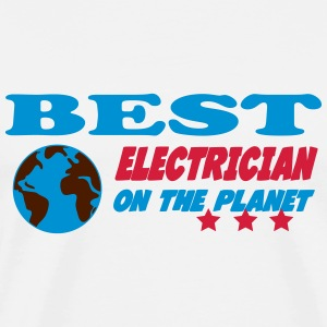 Best electrician on the planet Koszulki - Koszulka męska Premium