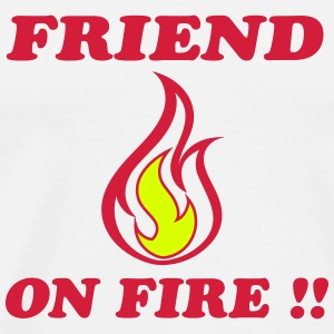 Friend on fire T-shirts - Premium-T-shirt herr