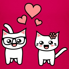 Kawaii Kittehs Valentines T-Shirts