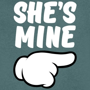 She\'s Mine (Comic Hand) Part 2 T-Shirts - Men's V-Neck T-Shirt