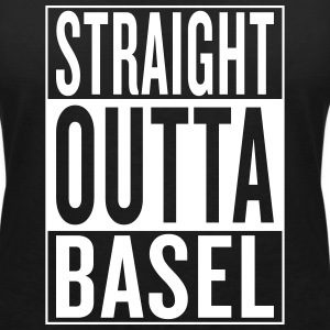 straight outta Basel Tee shirts - T-shirt col V Femme