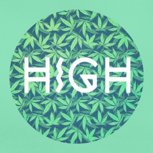HIGH / cannabis Hipster Typo - Pattern Design  T-Shirts - Women's T-Shirt