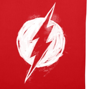 Justice League Flash Logo painted Stoffbeutel - Stoffbeutel