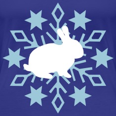 Bunny with snowflake