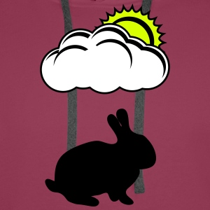 Bunny with cloud and Sun - Men's Premium Hoodie