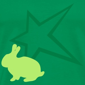 Bunny with star - Men's Premium T-Shirt