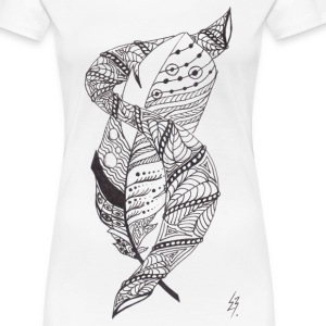 Feather Tensi - Frauen Premium T-Shirt