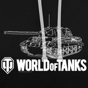 World of Tanks Jagdtiger Men Hoodie - Kontrast-hættetrøje