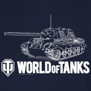 World of Tanks Jagdtiger Homme tee shirt - T-shirt Homme col V