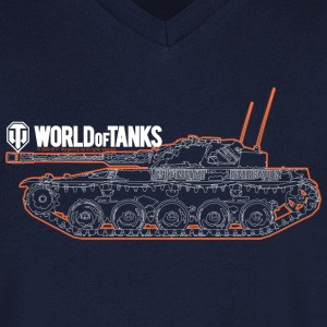 World of Tanks Orange Outline Men T-Shirt - Maglietta da uomo con scollo a V