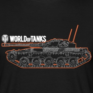 World of Tanks Orange Outline Men T-Shirt - Herre-T-shirt