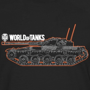 World of Tanks Orange Outline Men Longsleeve - Koszulka męska Premium z długim rękawem