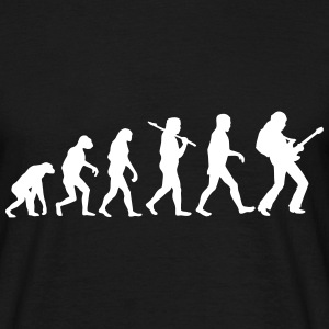 Evolution of Rockguitar - Männer T-Shirt