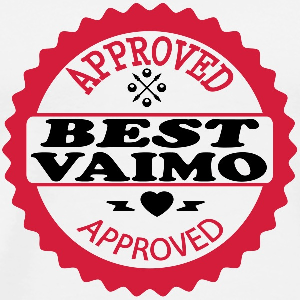 Approved best vaimo T-shirts - Herre premium T-shirt