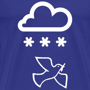 Peace dove with snow cloud - Men's Premium T-Shirt