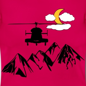 Helikopter over bjergene - Dame-T-shirt