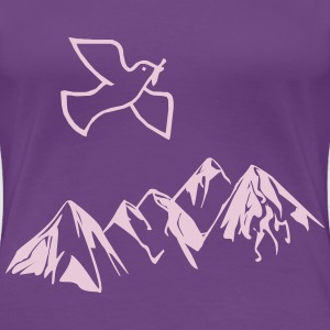 Dove of peace over mountains - Women's Premium T-Shirt