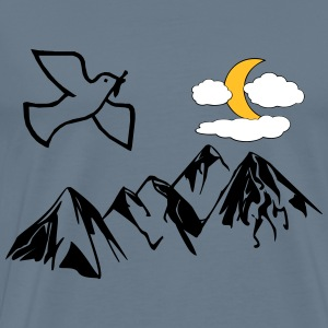 Dove of peace over mountains - Men's Premium T-Shirt