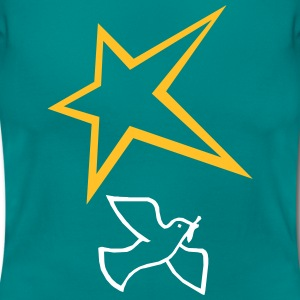Peace dove with star - Women's T-Shirt