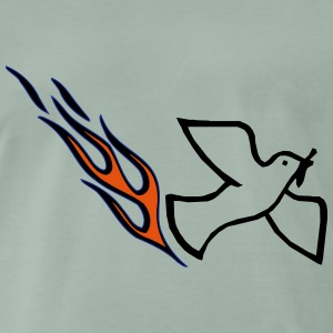 Peace dove with flame - Men's Premium T-Shirt