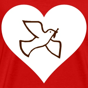Dove of peace in heart - Men's Premium T-Shirt