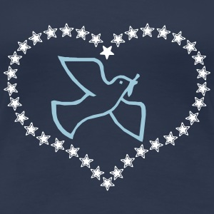Dove of peace in heart - Women's Premium T-Shirt