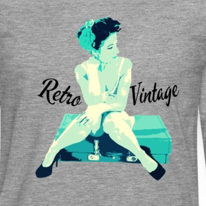 Retro Vintage Pin Up Girl - Men's Premium Longsleeve Shirt