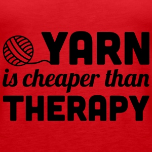 Yarn is cheaper than therapy Toppe - Dame Premium tanktop