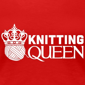 Knitting queen T-skjorter - Premium T-skjorte for kvinner