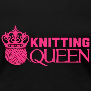 Knitting queen T-shirts - Dame premium T-shirt