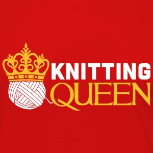 Knitting queen Long Sleeve Shirts - Women's Premium Longsleeve Shirt