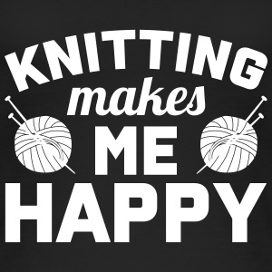 Knitting makes me happy Tops - Frauen Bio Tank Top