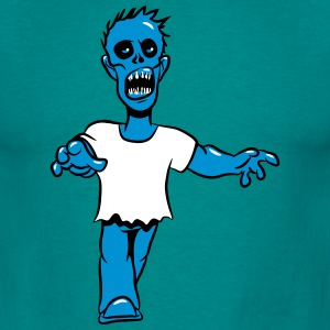 zombie funny uhyggelig tegneserie T-shirts - Herre-T-shirt