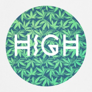 HIGH / cannabis Hipster Typo - Pattern Design  Forklær - Kokkeforkle