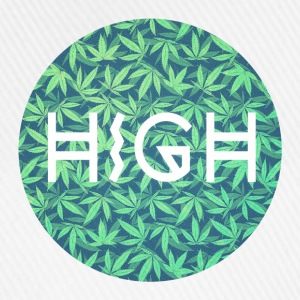 HIGH / cannabis Hipster Typo - Pattern Design  Caps & Hats - Baseball Cap